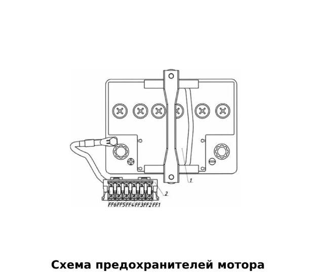Схема блока мотора